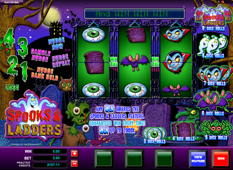 spooks and ladders slot