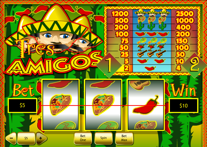 Play Tres Amigos Online Slots at Casino.com UK