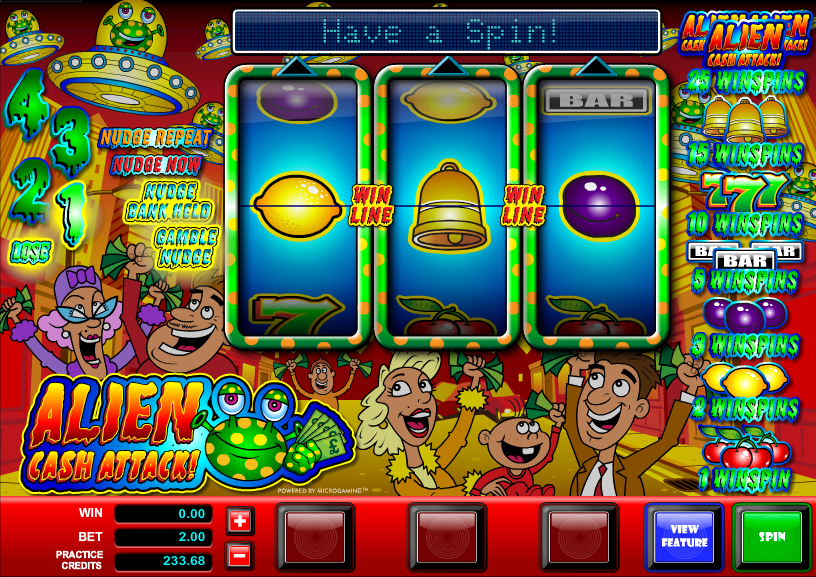 Alien Cash Attack Slot Machine - Play Free Casino Slot Games