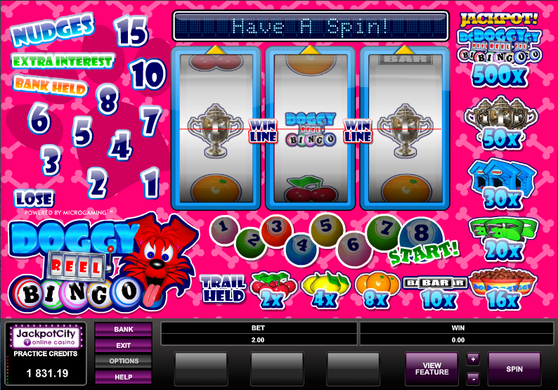 doggy reel bingo slot
