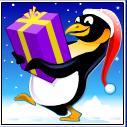santa paws penguin