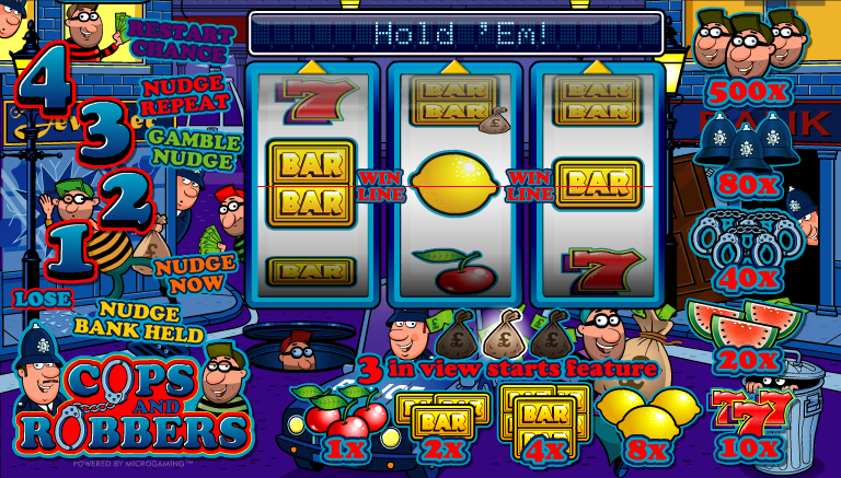 best online casino cops and robbers slots