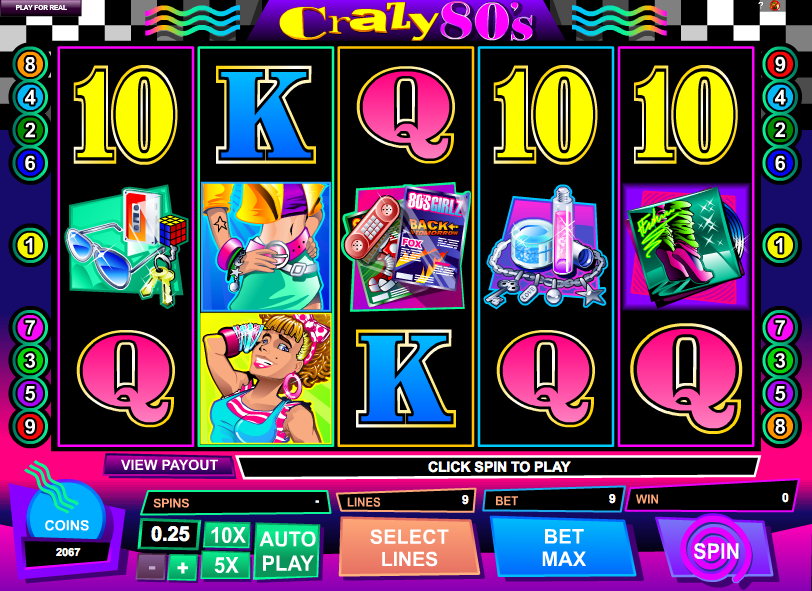Crazy 80s Slots - Find Out Where to Play Online