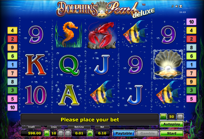 dolphins pearl deluxe screenshot slot