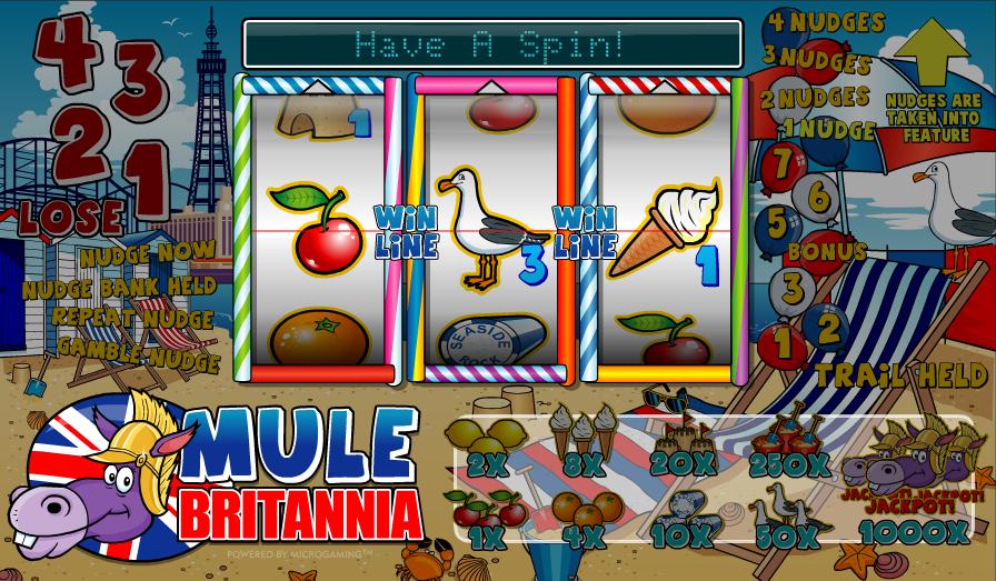 Mule Britannia Slot - Free Online Microgaming Slots Game