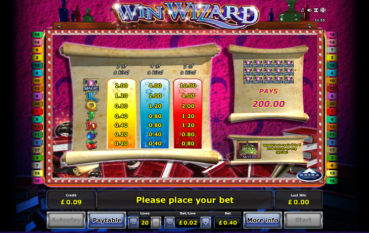 Win Wizard Slot Machine – Play Free Novomatic Slots Online