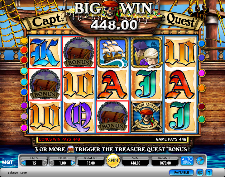 captain quids treasure chest slot