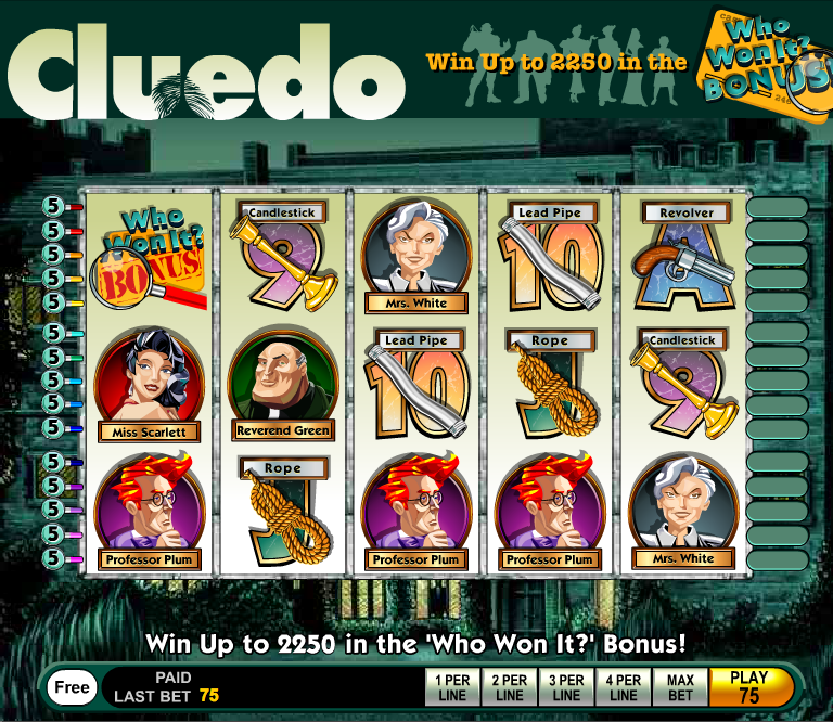 cluedo who win it slot