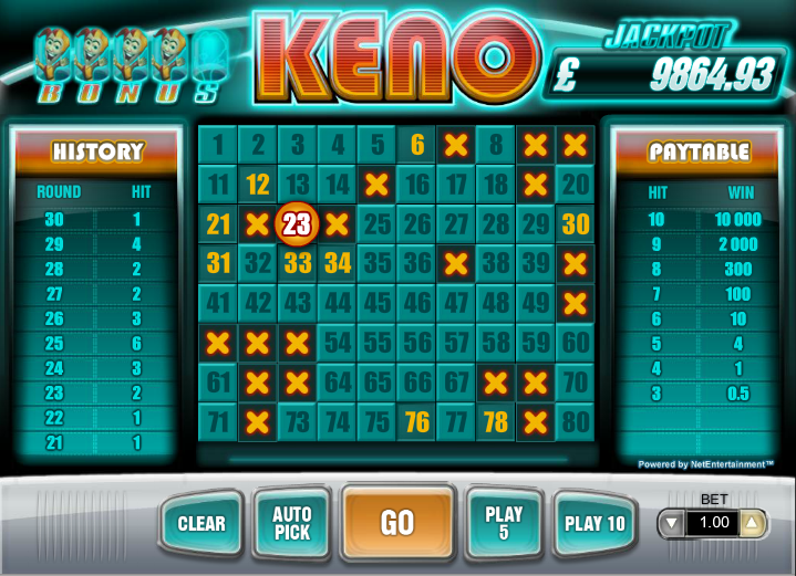 keno net entertainment