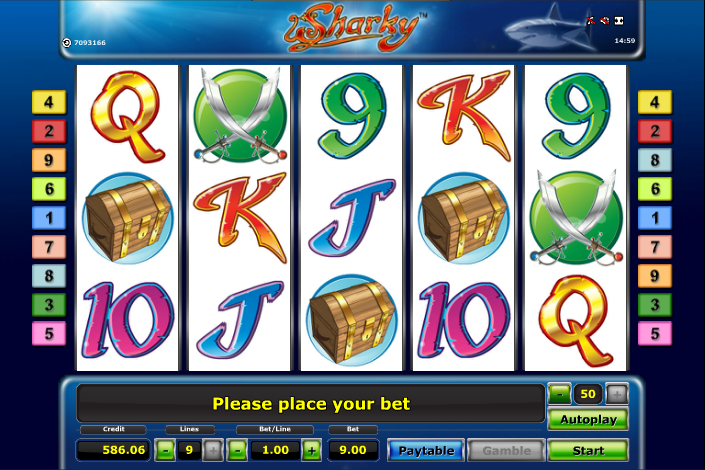 free slots machine online sharky slot