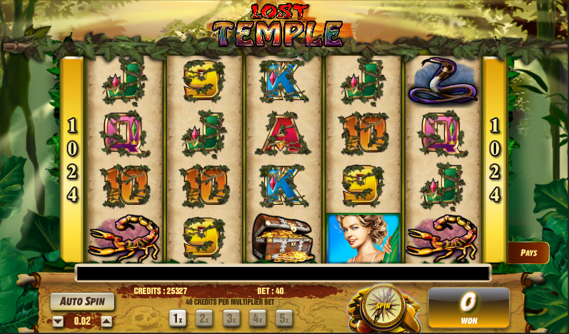 lost temple slot review