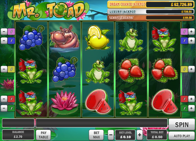 mr toad slot review