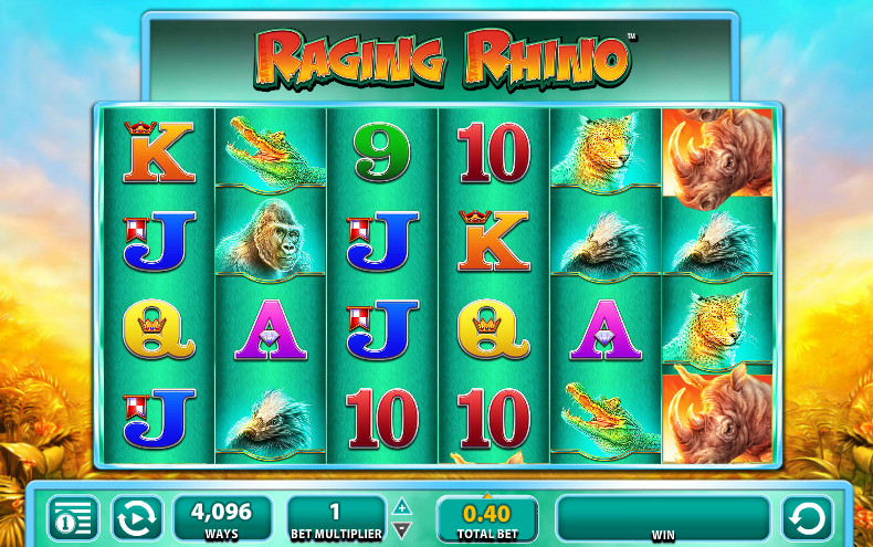 raging rhino slots