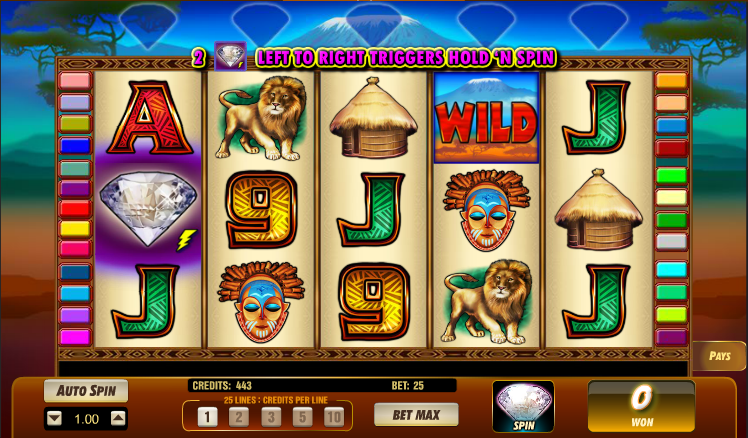 serengeti diamonds slot review