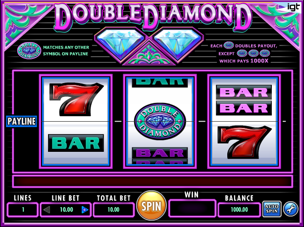 double diamonds slot