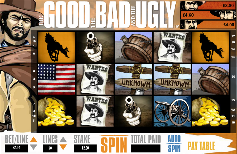 The Good the Bad and the Ugly Slots - Play it Now for Free
