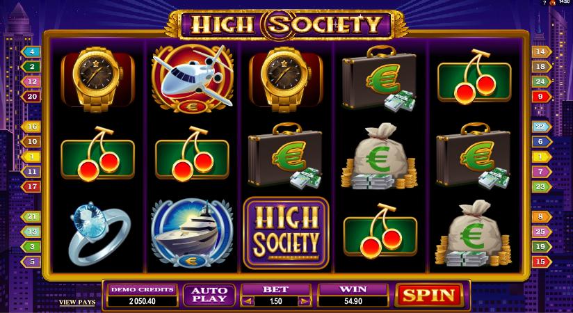 high society screenshot