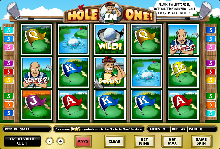 hole in one screenshot