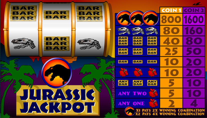 jurassic jackpot screenshot