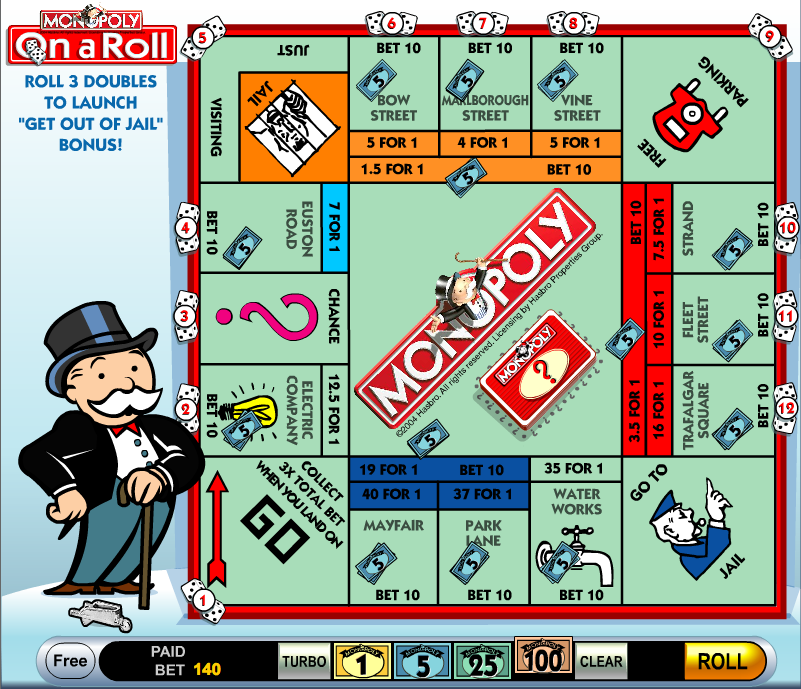 nonopoly on a roll slot review