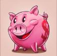 piggy bank scatter