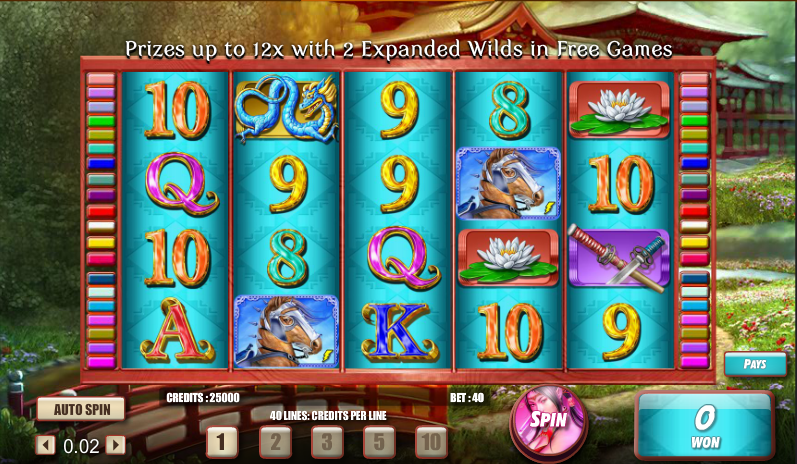 samurai princess slot review