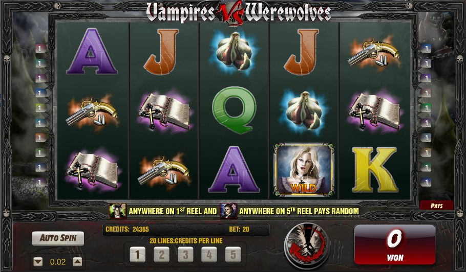 vampires vs werewolves screenshot