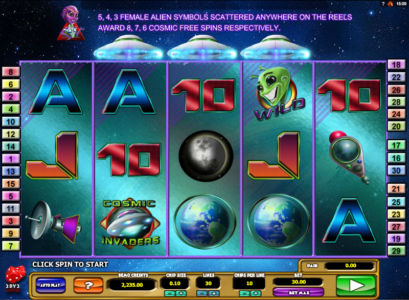 Iwin cosmic invaders slot machine online 2by2 gaming