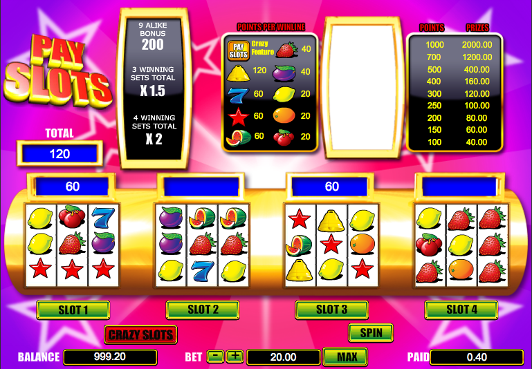 online casino games crazy slots
