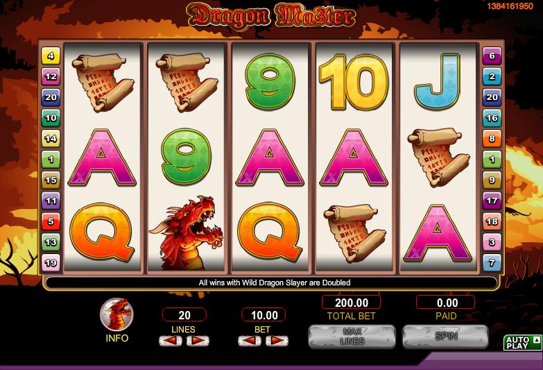 dragon master slot review