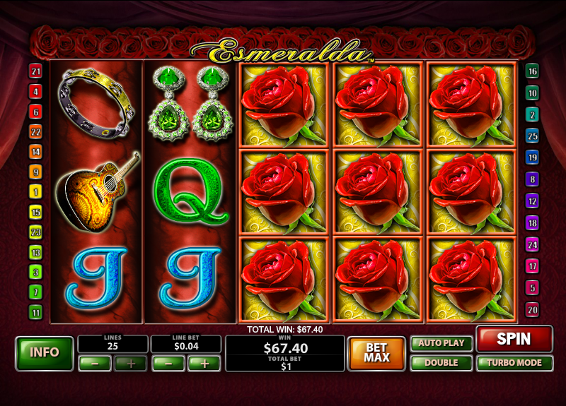 Play Esmeralda slot at Casino.com UK