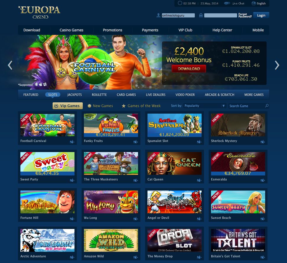 Slots gratis casino europa