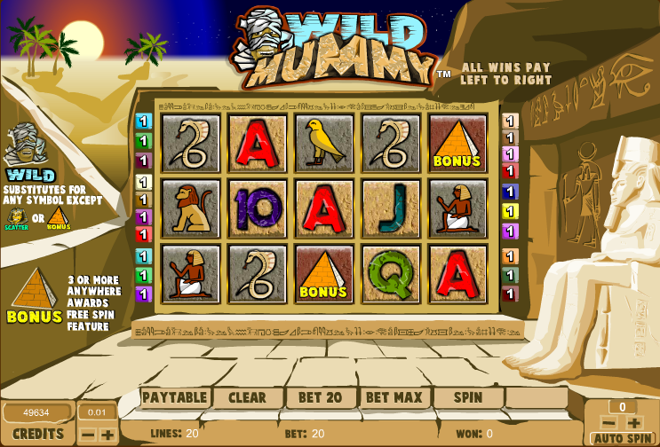 Wild Mummy Slot Machine - Play this Amaya Casino Game Online