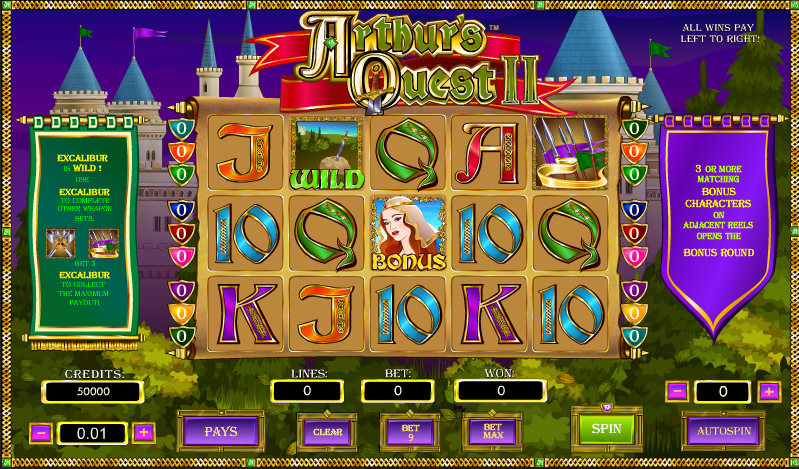 arthurs quest 2 slot review
