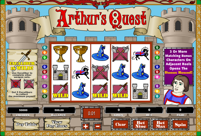 Arthurs Quest Slot Machines - Play Online Slots for Free