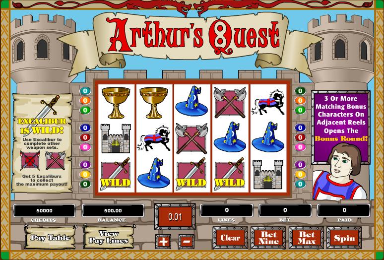 arthurs quest slot