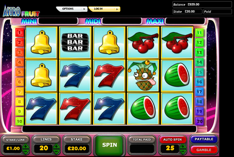 astro fruit slot review