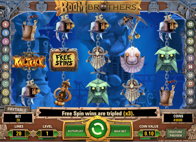 Boom Brothers Netent Online Slot Machine for Real Money