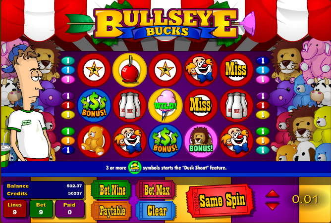 Bullseye Bucks Online Video Slot - Play this Game for Free
