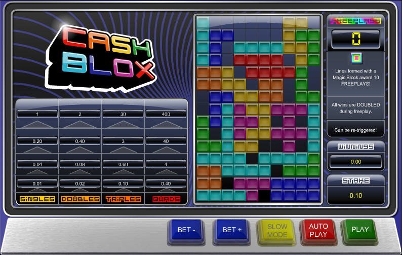Play Cash Blox Arcade Game at Casino.com UK