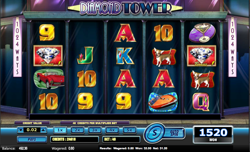 diamond tower slot review