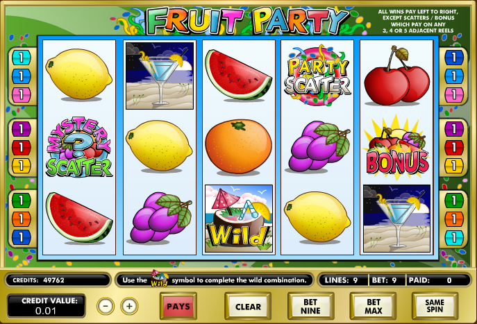 fruit party screenshot