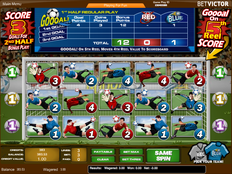 Goooal! Casino Slot Machine – Play This Soccer Game Online