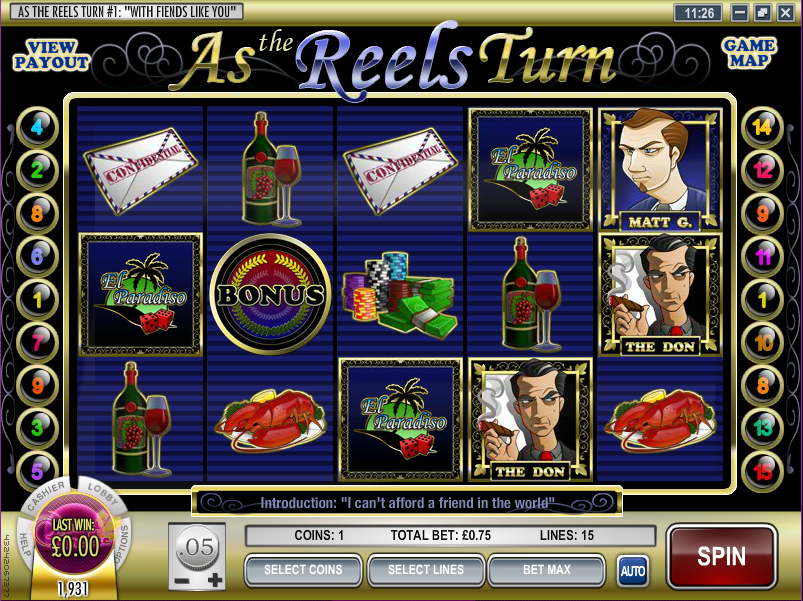 as the reels turn 1 slot review