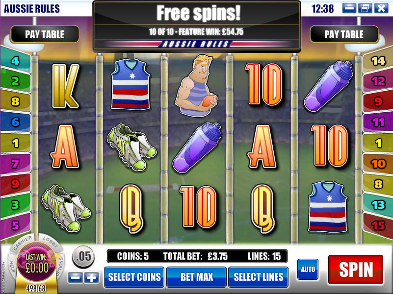 aussie rules slot review