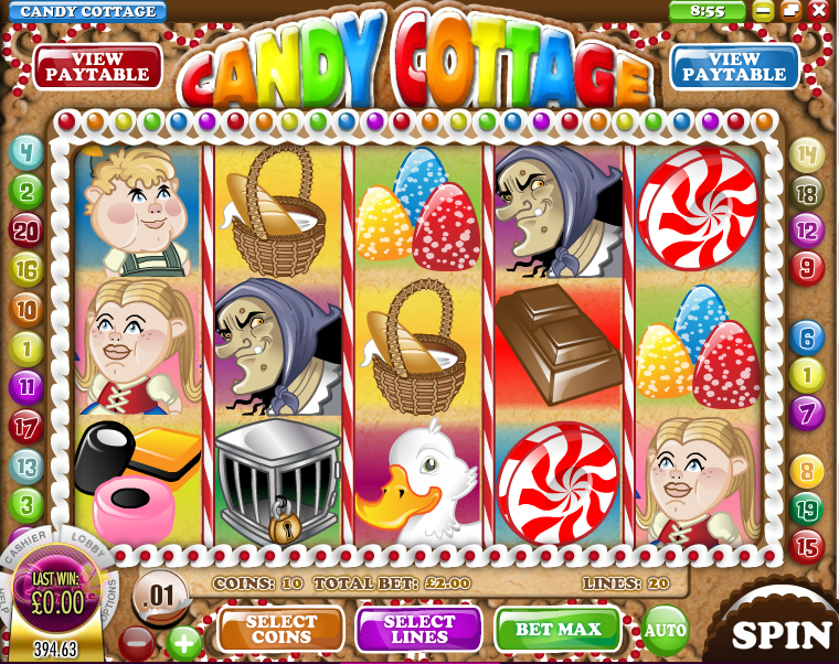 candy cottage slot review