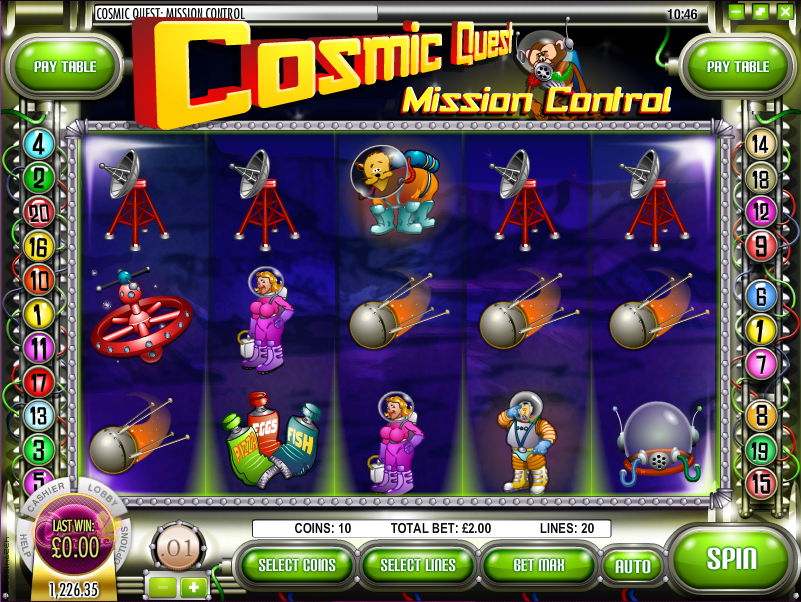 cosmic quest mission control slot