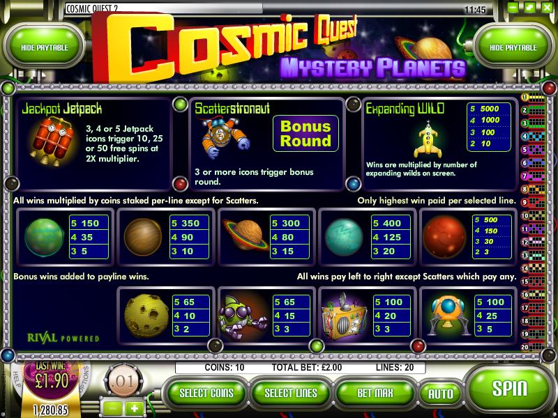 cosmic quest information