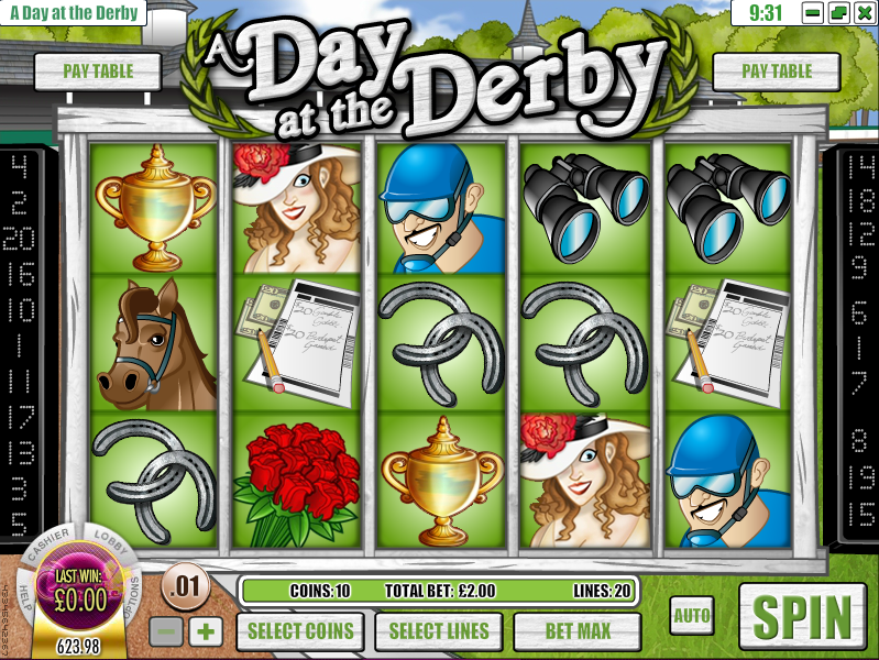a day at the derby slot review
