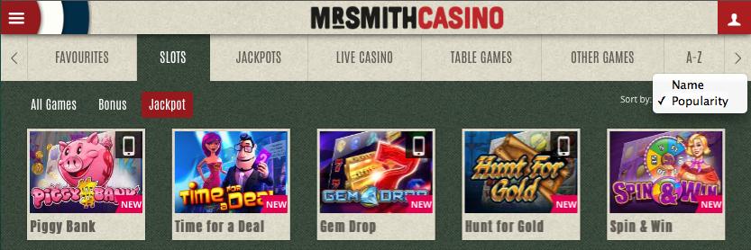 mr smith slot shot